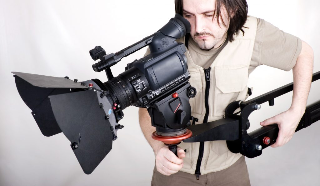 HD Camcorder On Crane