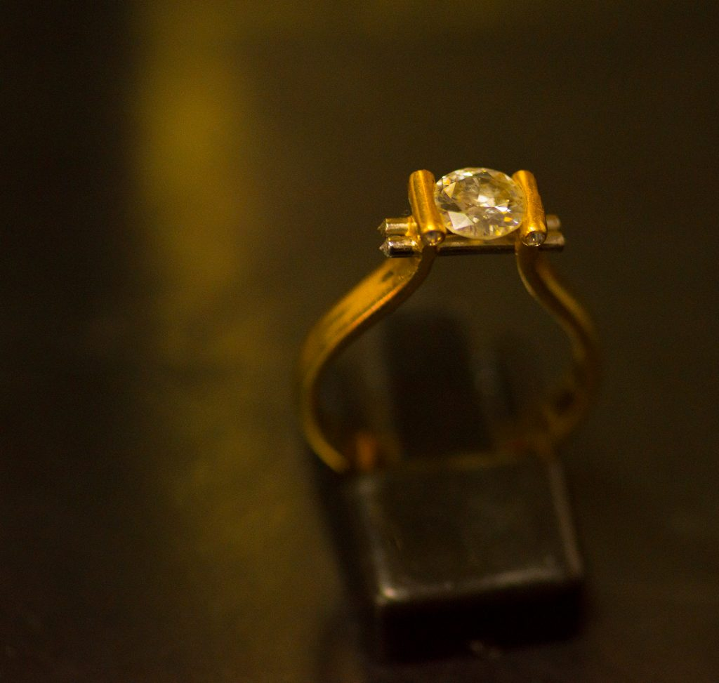 Brett's award winning diamond ring design.
