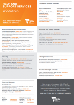 Help and Support Services: Wodonga