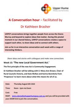 Conversation Hour Week 15 flyer