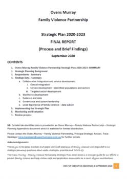Cover of OM-FVP Strategic Plan 2020-2023