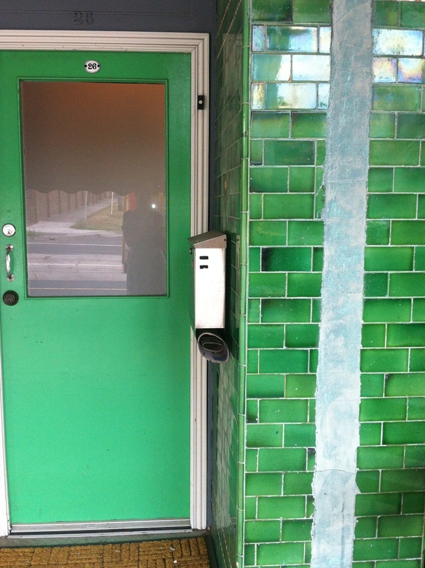 Green door in Miller on Gilbert