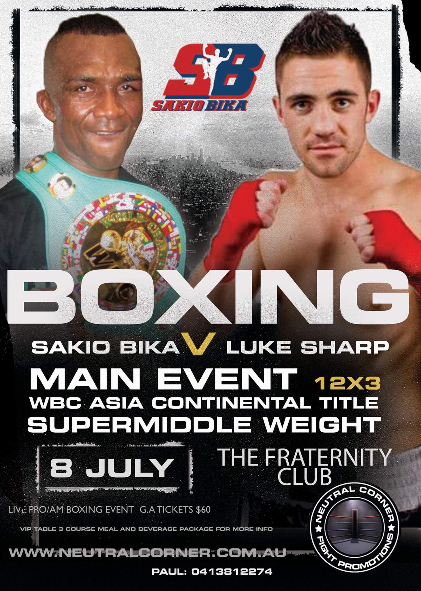 Sakio Bika v Luke Sharp