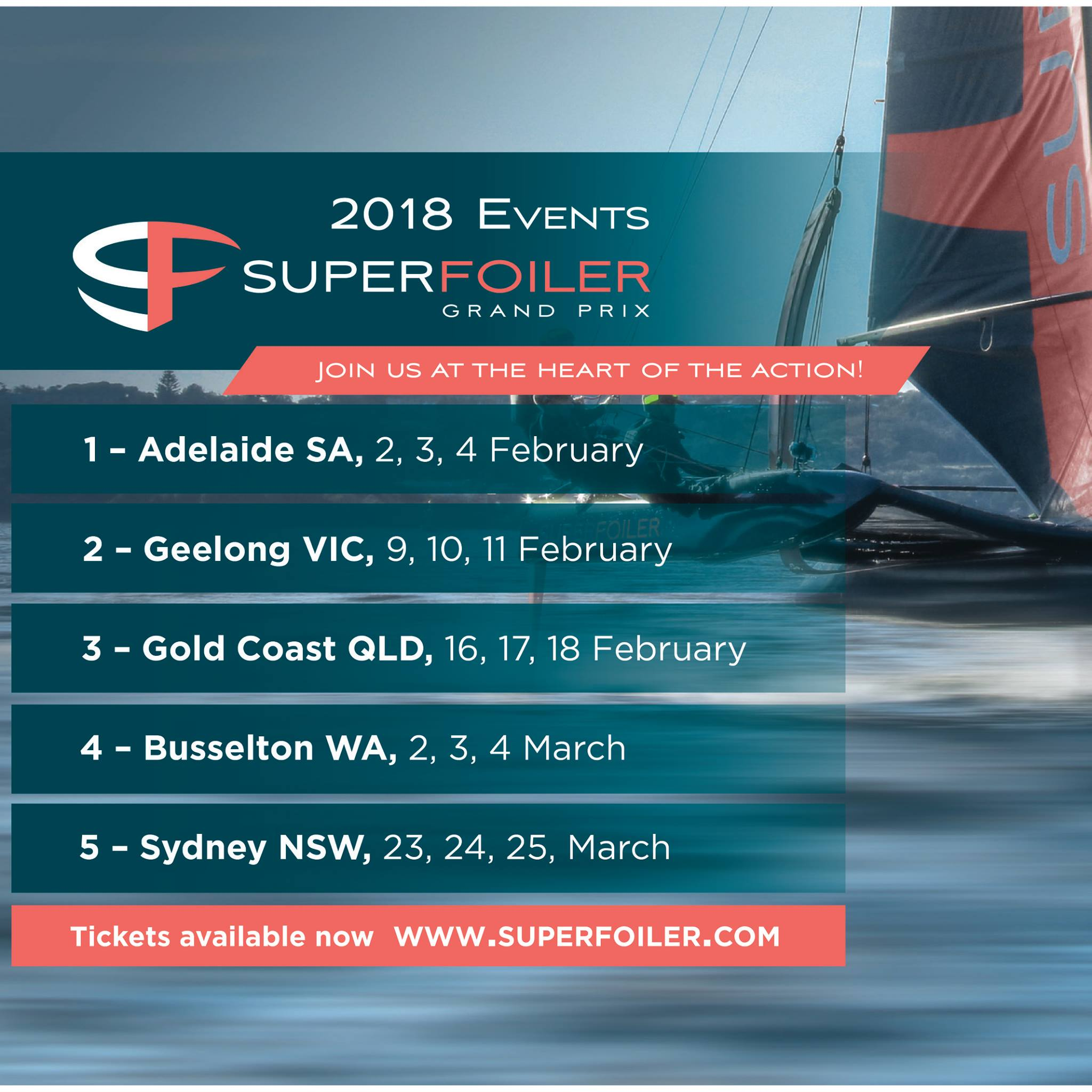 2018 Superfoiler Grand Prix – Round 1 (Aus Geo Blocked)