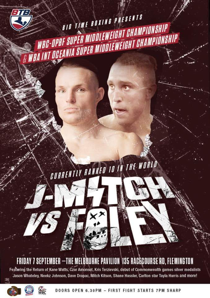 LiveCombatSports bring you 'Big Time Boxing': Mitchell v Foley Live on Epicentre.tv
