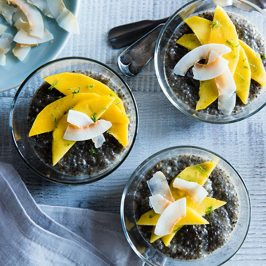 Chia Seed Pudding with Mango & Coconut
