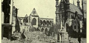 Devasted-Church-of-Louvain-Time-History-of-War