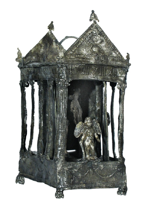 Portable shrine in the form of a temple, lead, end of 1st century BC.