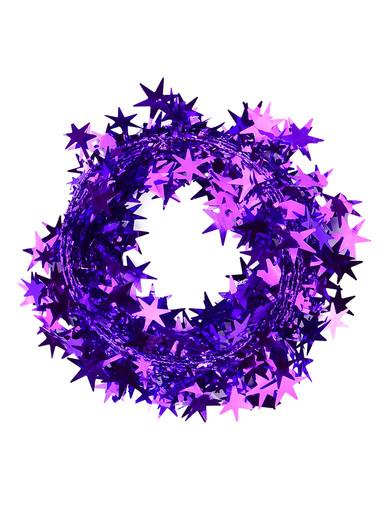 Purple Star Wired Garland - 7.6m
