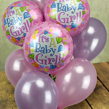 It`s a Girl Balloon Bouquet