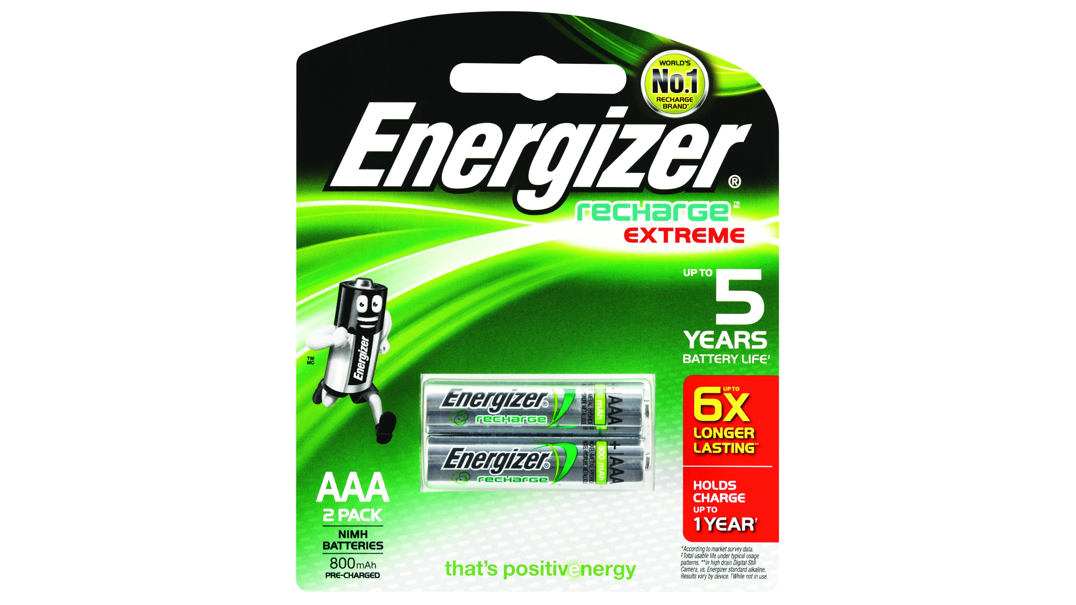 Energizer Recharge AAA Batteries - 2 Pack : Domayne
