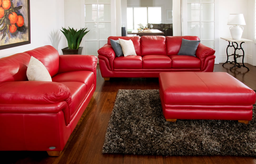 Demi 2 piece leather lounge suite by la z boy harvey - Harvey norman living room furniture ...