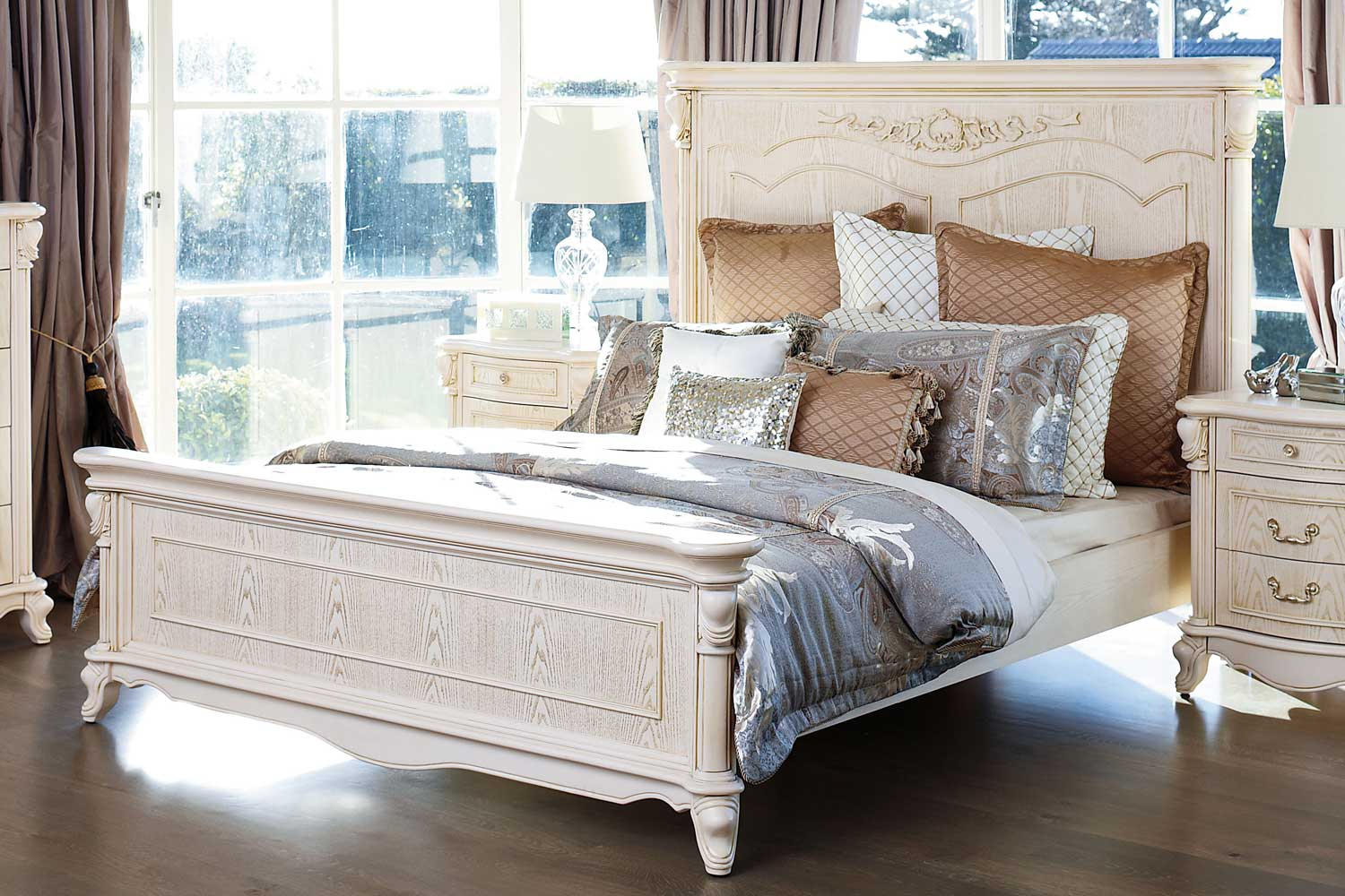 Chateau king bed frame by sorensen furniture harvey norman new zealand - Harvey norman bedroom sets ...