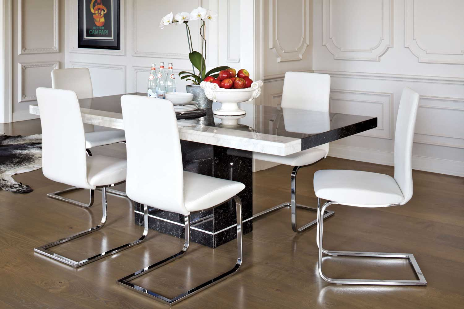 Pienza dining rectangular dining table nero collage for Dining room tables harvey norman