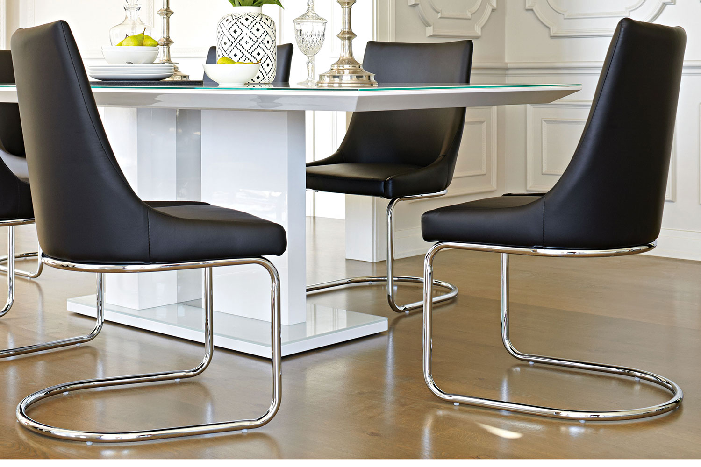 Senti dining chair black insato furniture harvey