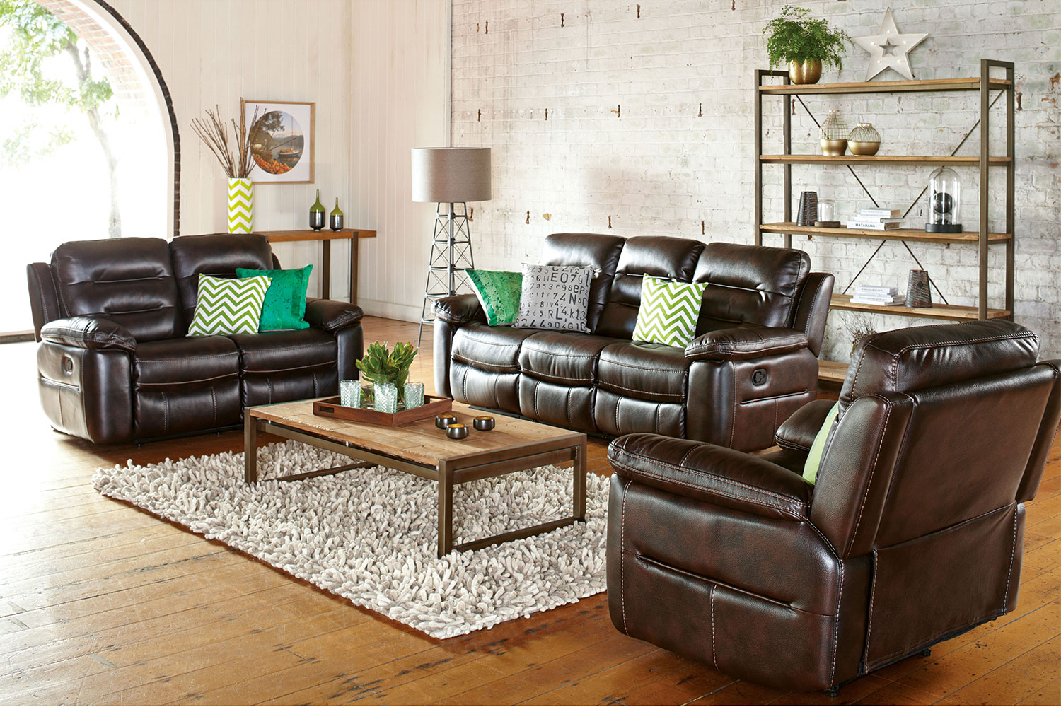 Somerset 3 Piece Fabric Recliner Lounge Suite