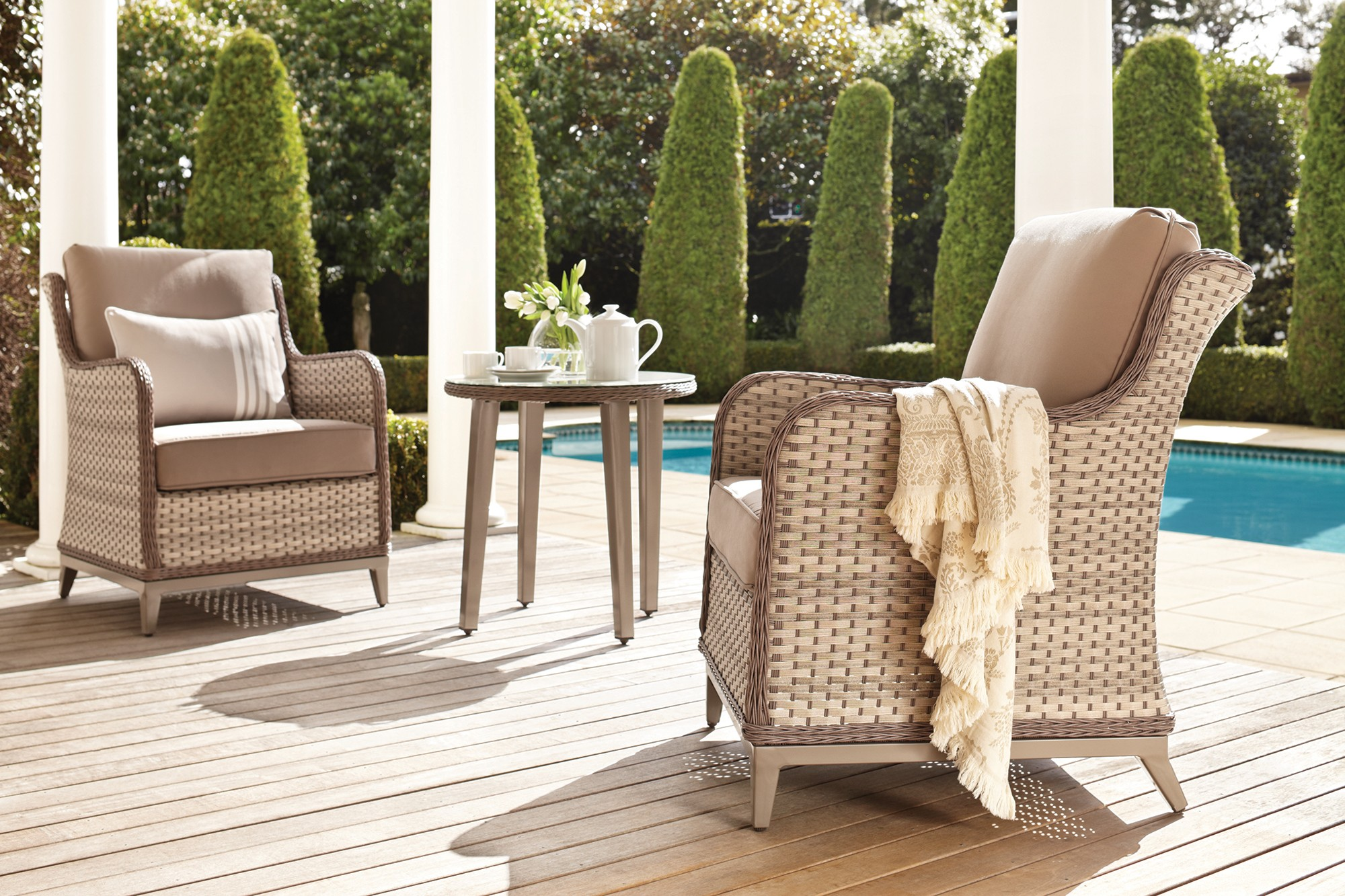 Outdoor Furniture – Cushions Table Chairs Umbrellas & More