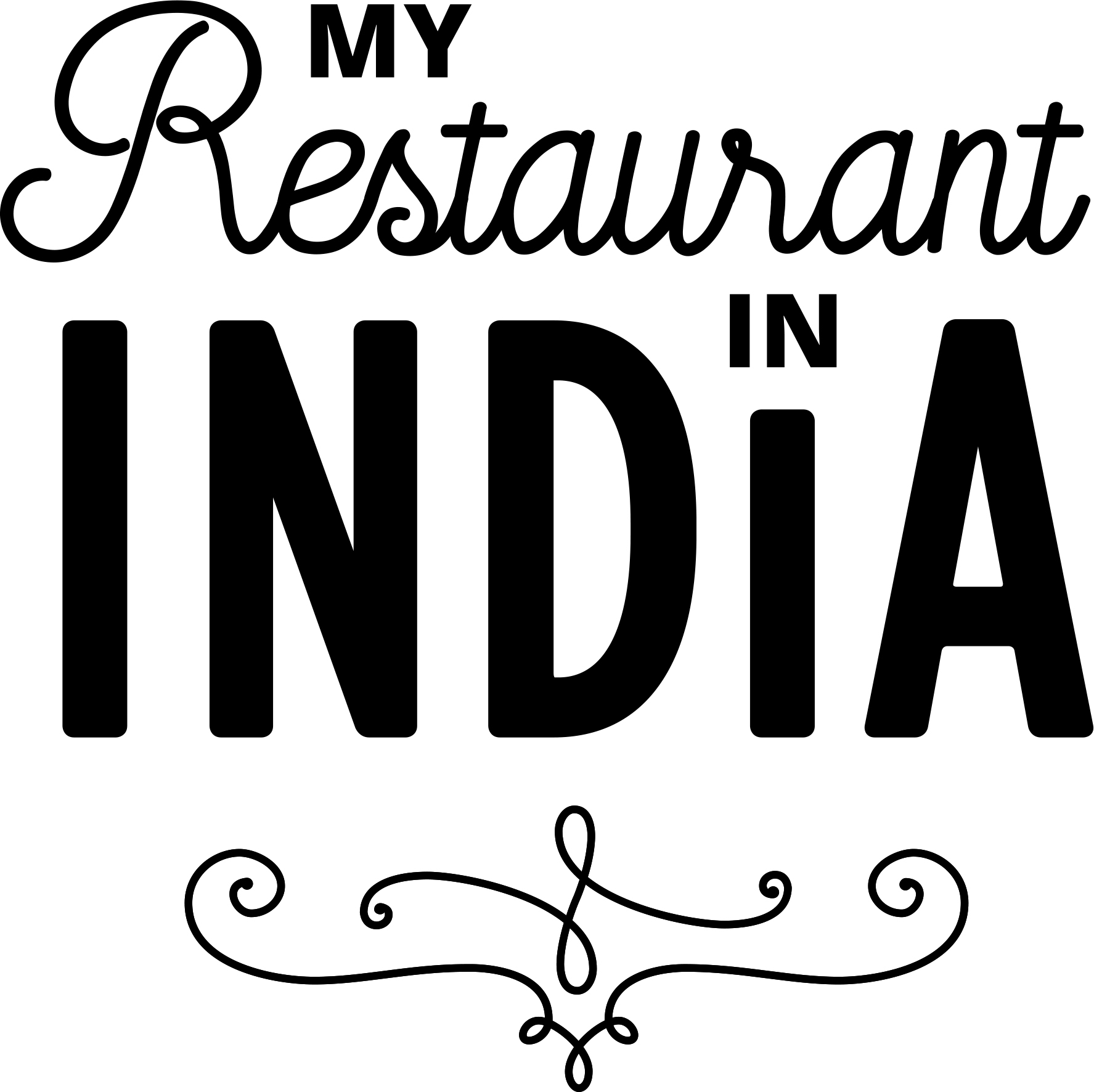 Blacklogo My Restaurant In India Fa