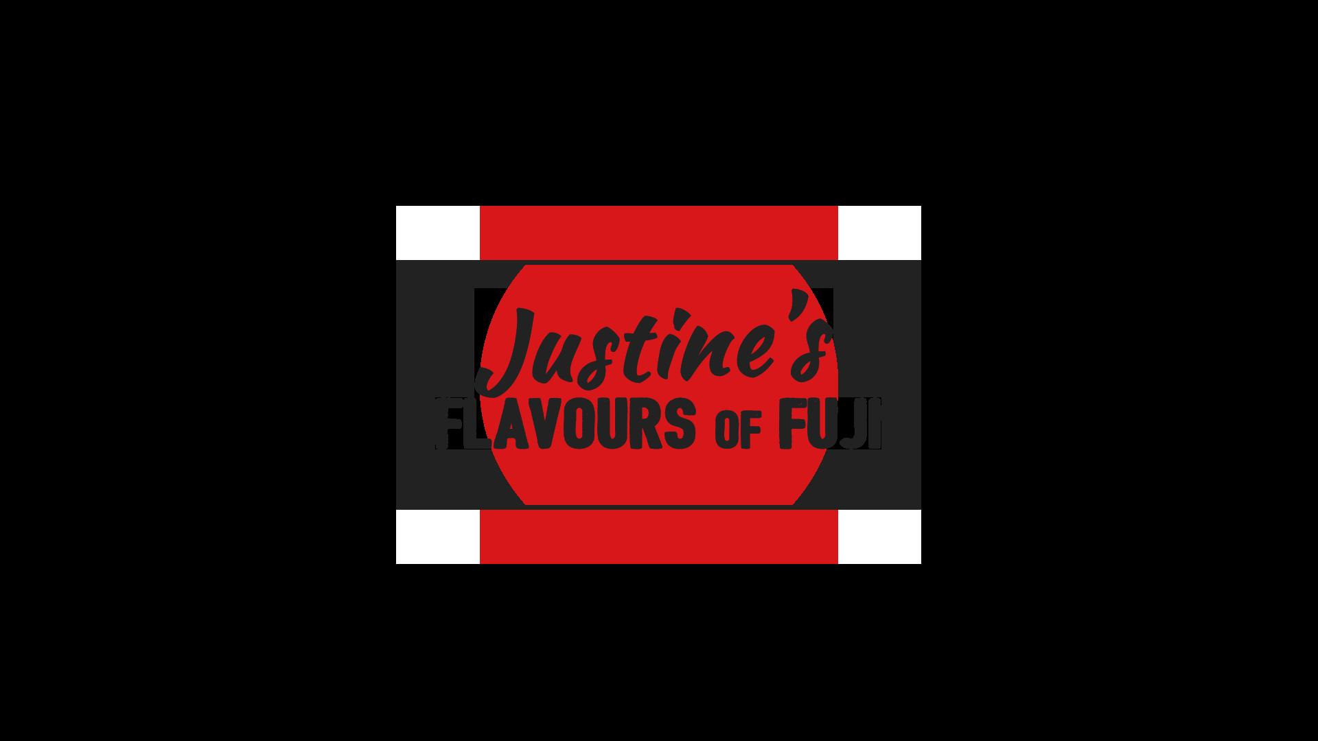 Justines Flavours Of Fuji Logo Grey
