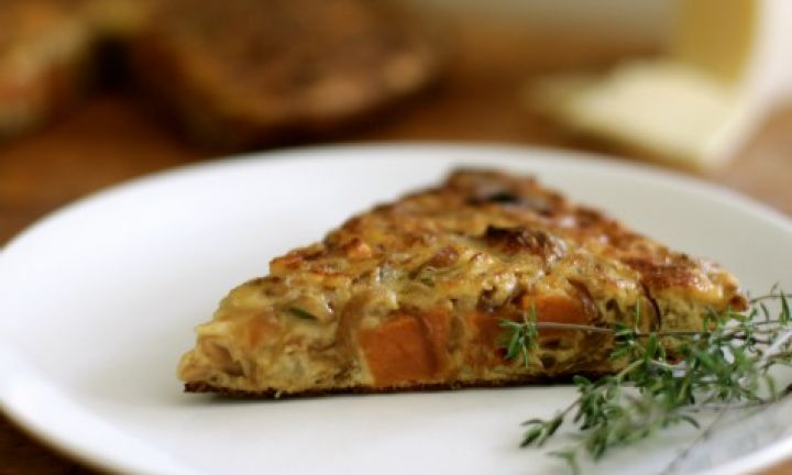 Sweet Potato And Caramelized Onion Frittata Recipe — Dishmaps
