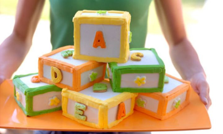 Easy as birthday cakes for baby 39 s first birthday kidspot for Alphabet blocks cake decoration
