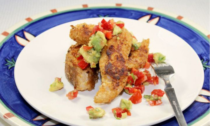 Kidspot Best Recipes Mexican Taco fish bites with tomato salsa