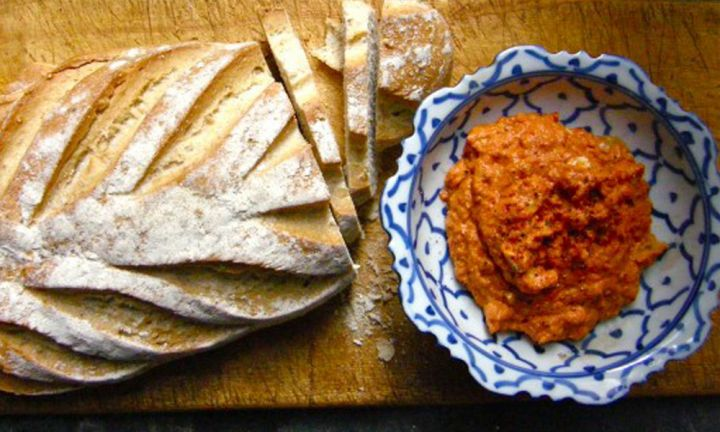 Roasted tomato, red pepper and cashew pesto