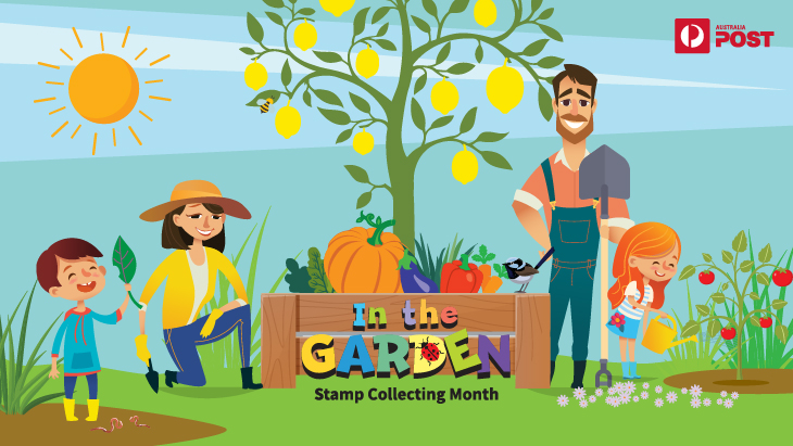 In the Garden Stamp Collecting Month