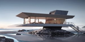 Atelier Monolit Beach House is Sign that We Could Survive Post Apocalypse in Relative Beauty