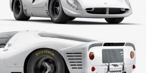 Famed Ford vs. Ferrari 330 P4 immortalised in white by INK Studio