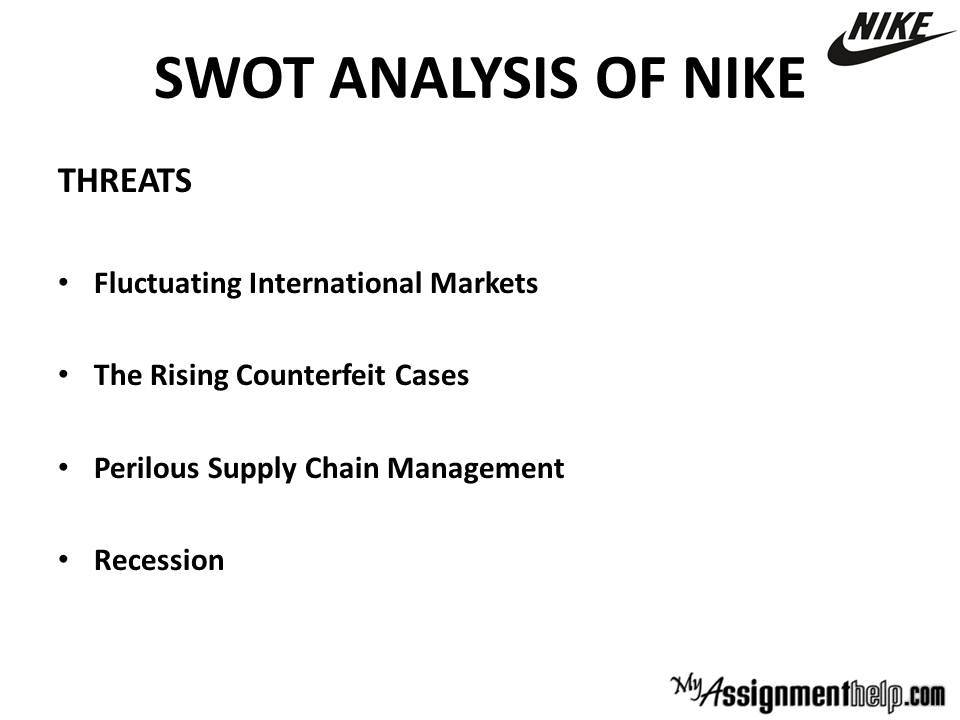 pest nike This pestle analysis of nike shows they may have a strong brand and healthy finances, but they need to watch out for other growing, cheaper outlets.