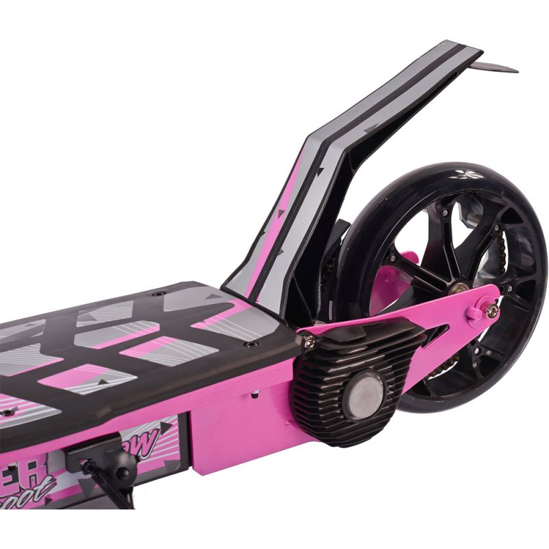 Pink electric scooters