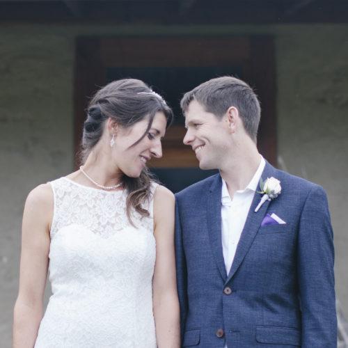Bride and Groom Wanaka Wedding