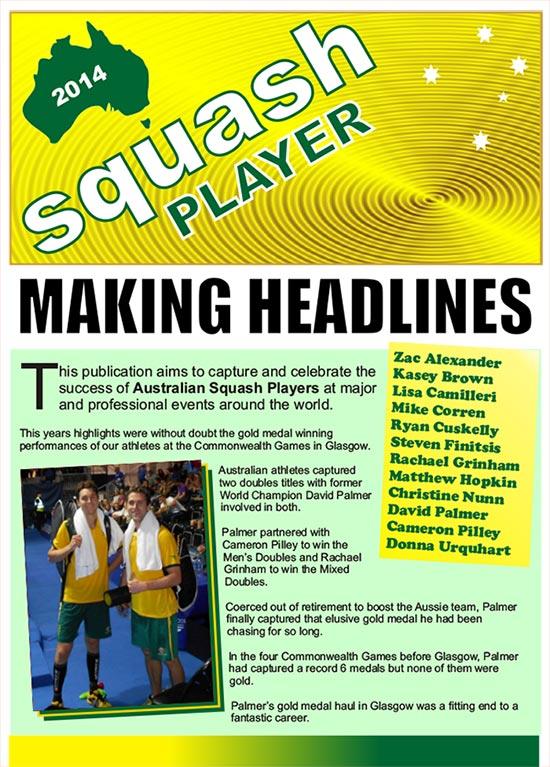 Australian Squash Player magazine 2014