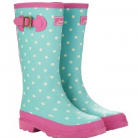 PRODUCTS_Wellies_Joules_Girls_Aqua spot_£24.95