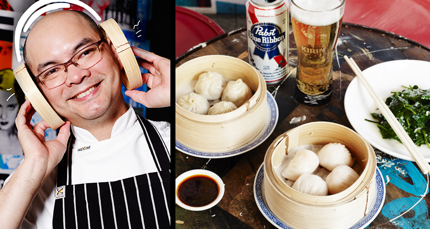 Eric Koh and dumplings