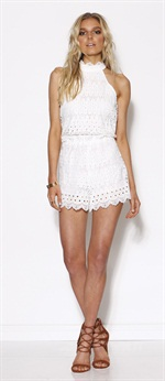 36565  Lace Up Romper