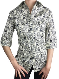 Fox-L34  Fox ¾ Sleeve Ladies S