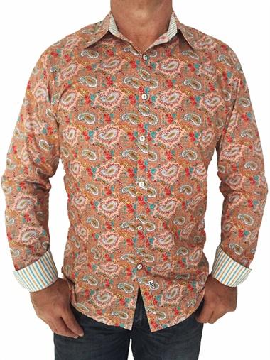 Peach-LS  Peach Long Sleeve Sh