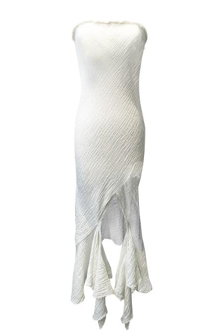 CRUSH LINEN STRAPLESS DRESS   KIT WILLOW   KITX