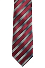 41324-9NRC  Red Grey Stripe Ti