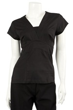 139JOANNA  S.Slv V-Neck Side Z