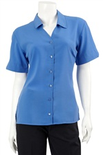 139LILLIE  S.Slv V-Neck Shirt
