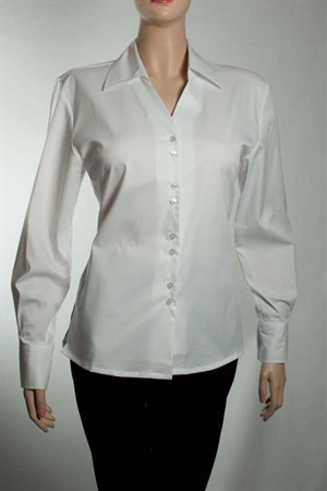 139FREYAL  L.Slv V-Neck Cotton