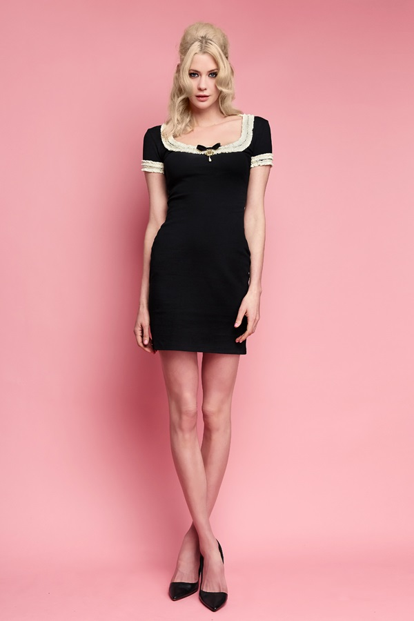 Wheels and doll baby black dress