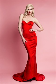 01.DR-W13D035-RED  SATIN GILDA