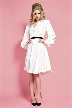 01.DR-W17D002-IV  BACALL DRESS