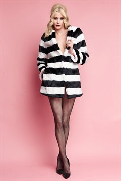 01.JT-W16J003-BAW  STRIPED FUR