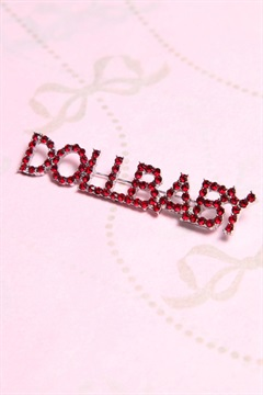AC-BROD01-RED  DOLLBABY BROOCH
