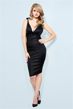 01.DR-W10D045-BLK  SATIN SUPPA